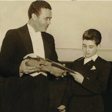 10 Year old Rodney Friend 1950 joint recital with Inia Takiawa