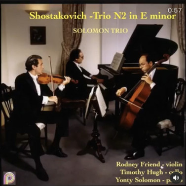 Shostakovich Trio in E Minor-Rodney Frie