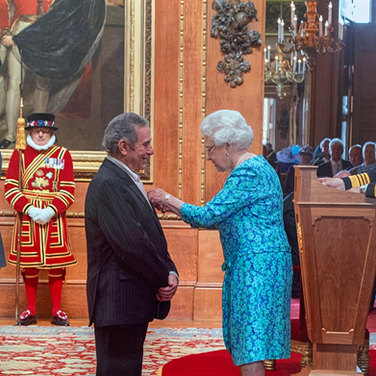 Rodney Friend with HRH Queen Elizabeth II