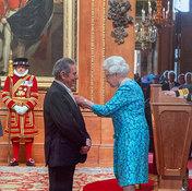 Rodney Friend with HRH Queen Elizabeth II