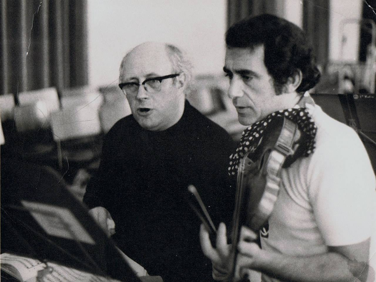 Rodney Friend with Rostropovich