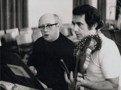 Rodney Friend with Rostropovich