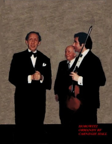 Rodney Friend with Horovitz and Eugene Ormandy