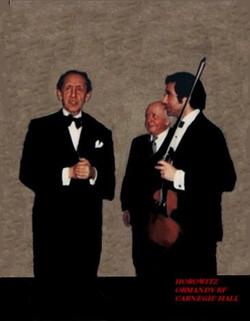 Rodney Friend with Horovitz and Eugene Ormandy