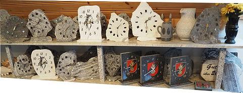 Individuelle Uhren aus Stein mit Gravur