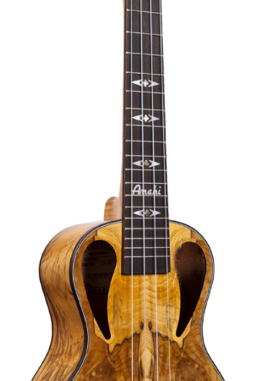 African Burl Concert Ukulele with Gig Bag