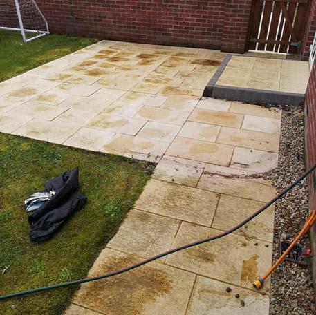 NA Garden Care   Craigavonn   Pressure Washing - Patio Before