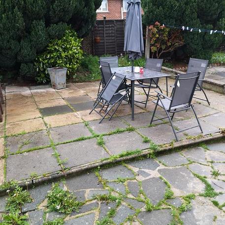 NA Garden Care   Portadown   Pressure Washing - Patio Before