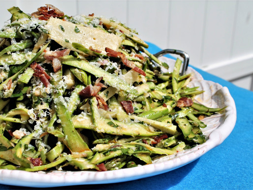 Asparagus salad with sundried tomato and bacon vinaigrette (VIDEO)