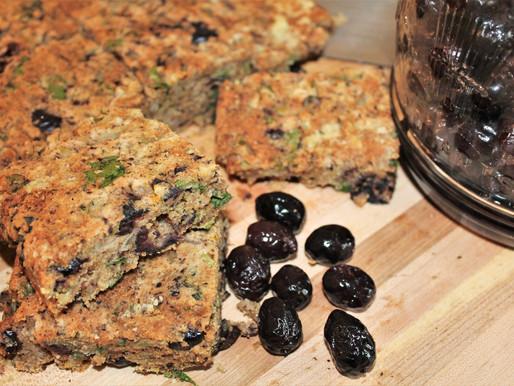 Cypriot Savory Olive cake - Eliopita. Vegan. (VIDEO)