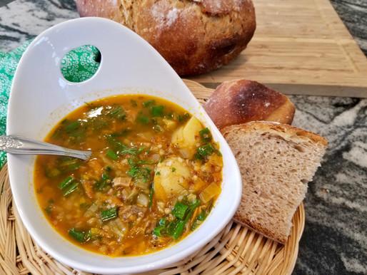Buckwheat Soup with Wild Mushrooms (VIDEO)