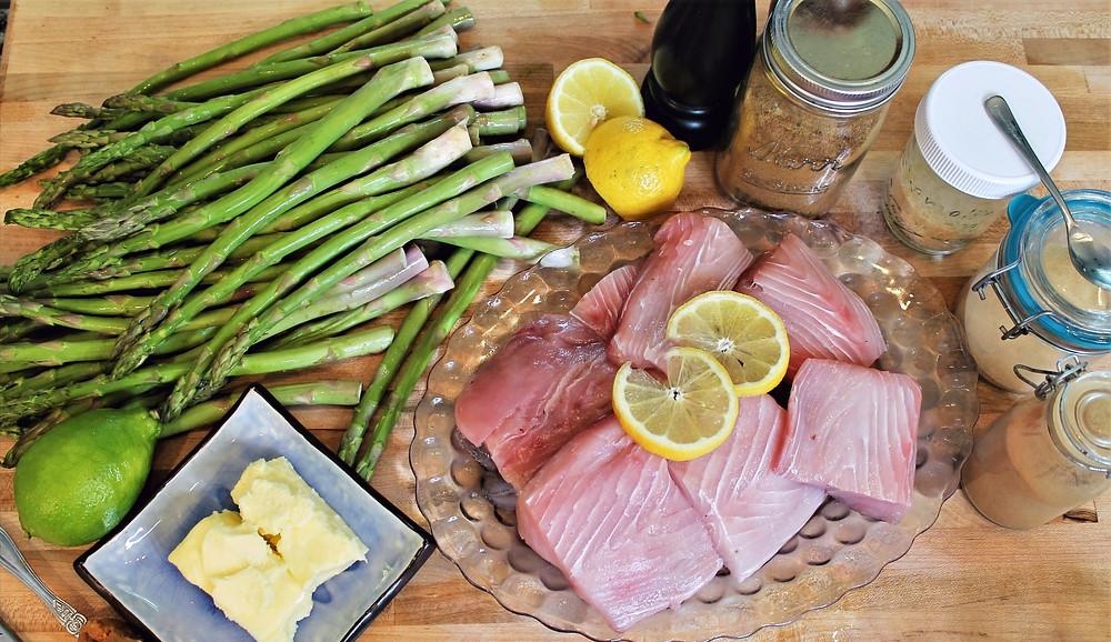 lime, fish fillets, butter, lemon, 4 jars, black pepper