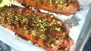 Whiskey - Marinated Salmon with Pistachio Crust (VIDEO)
