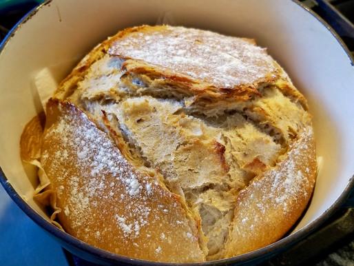 Artisan Sourdough Rye Bread in a Dutch Oven
