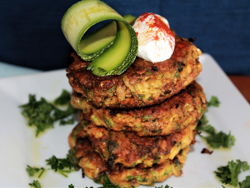 Gluten-Free Cheesy Zucchini Fritters (VIDEO)