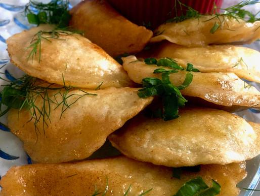 Vareniki (Pierogies) Stuffed with Farmers Cheese and Herbs (VIDEO)