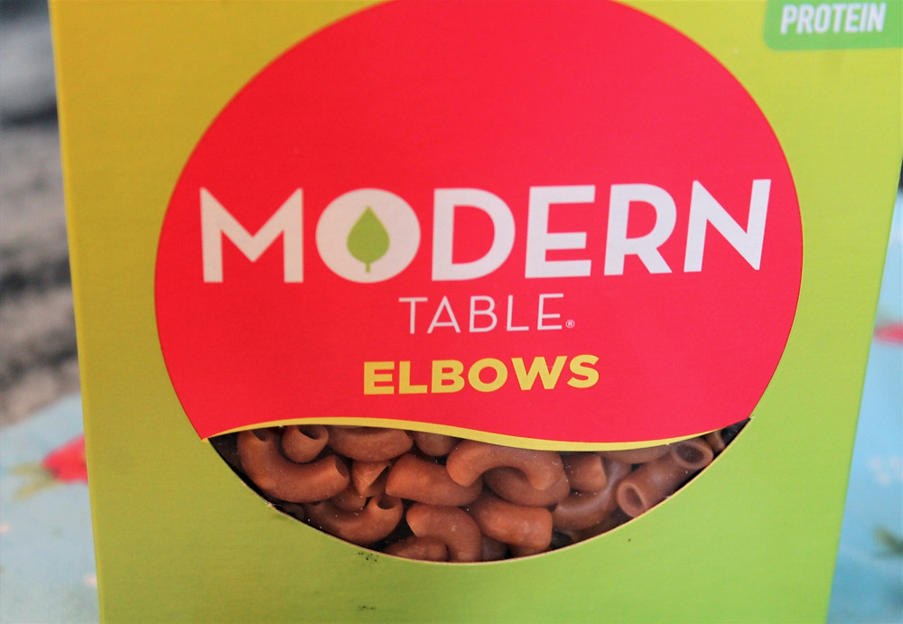 Box of Modern Table elbow macaroni