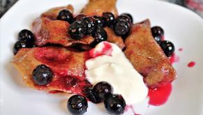 Spelt Dumplings With Blueberries (VIDEO)