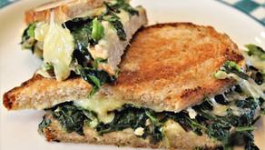 Cheesy Green Panini with dandelions and broccolini (VIDEO)