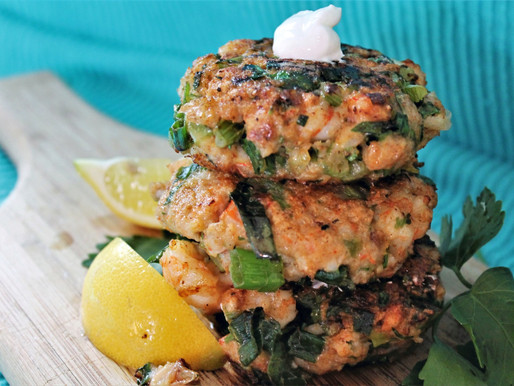 Quick, easy and egg-free shrimp cakes. (VIDEO)