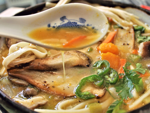 Hoto Japanese Rustic Noodle Soup. Vegan (VIDEO)