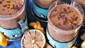 Orange Hot Chocolate With Chaga Powder. Creamy and Vegan (VIDEO)