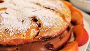 Peach Clafoutis. Easy, light, Summer Dessert (VIDEO)