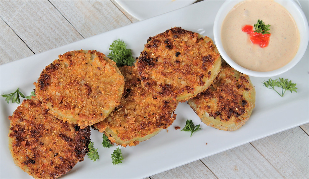 fried green tomatoes with aioli