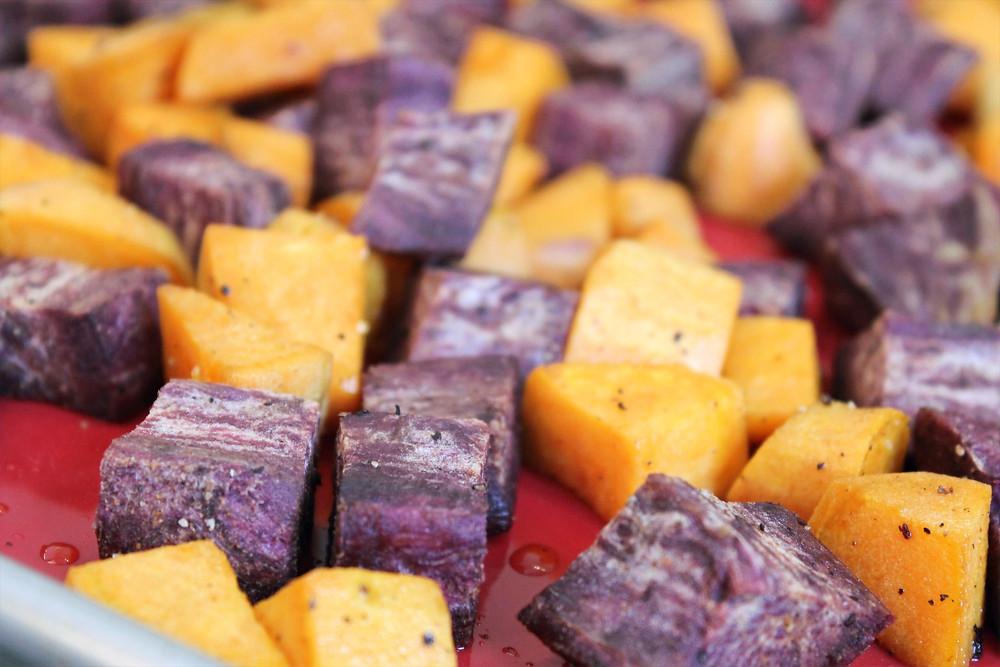 cubes of sweet potatoes