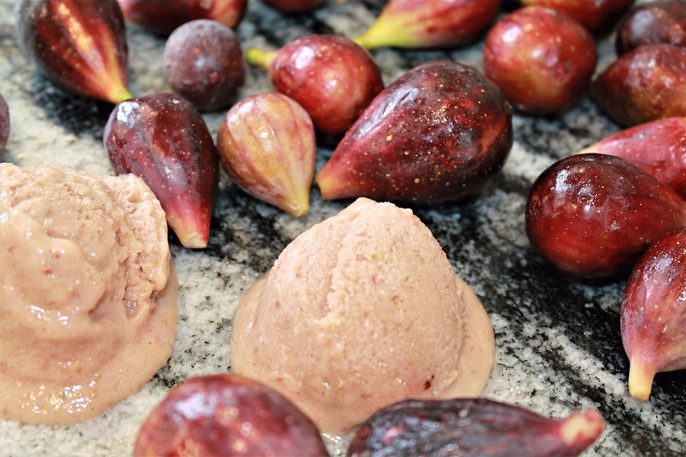 Figs and fig-flavored frozen yogurt