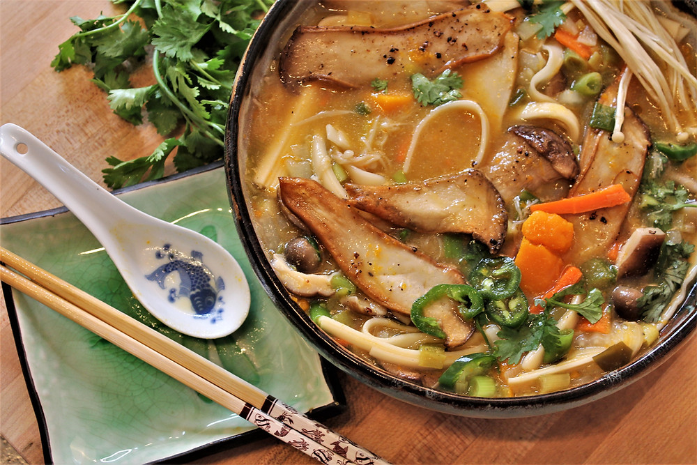 Hoto soup with chopsticks