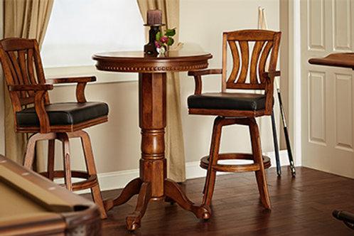 Cicero Vintage Oak Pub Table and 2 Stools