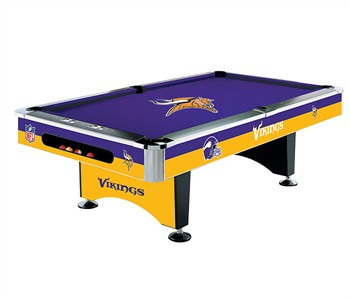 Vikings Pool Table - Pool table rail caps