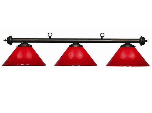 3 Shaded Red Billiard Light