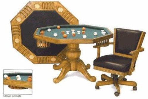"Traditional Oak 48"" 3 in 1 Table"