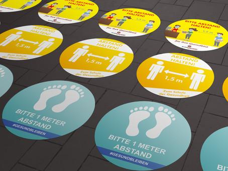 Zur Sicherheit - Fußbodenkleber