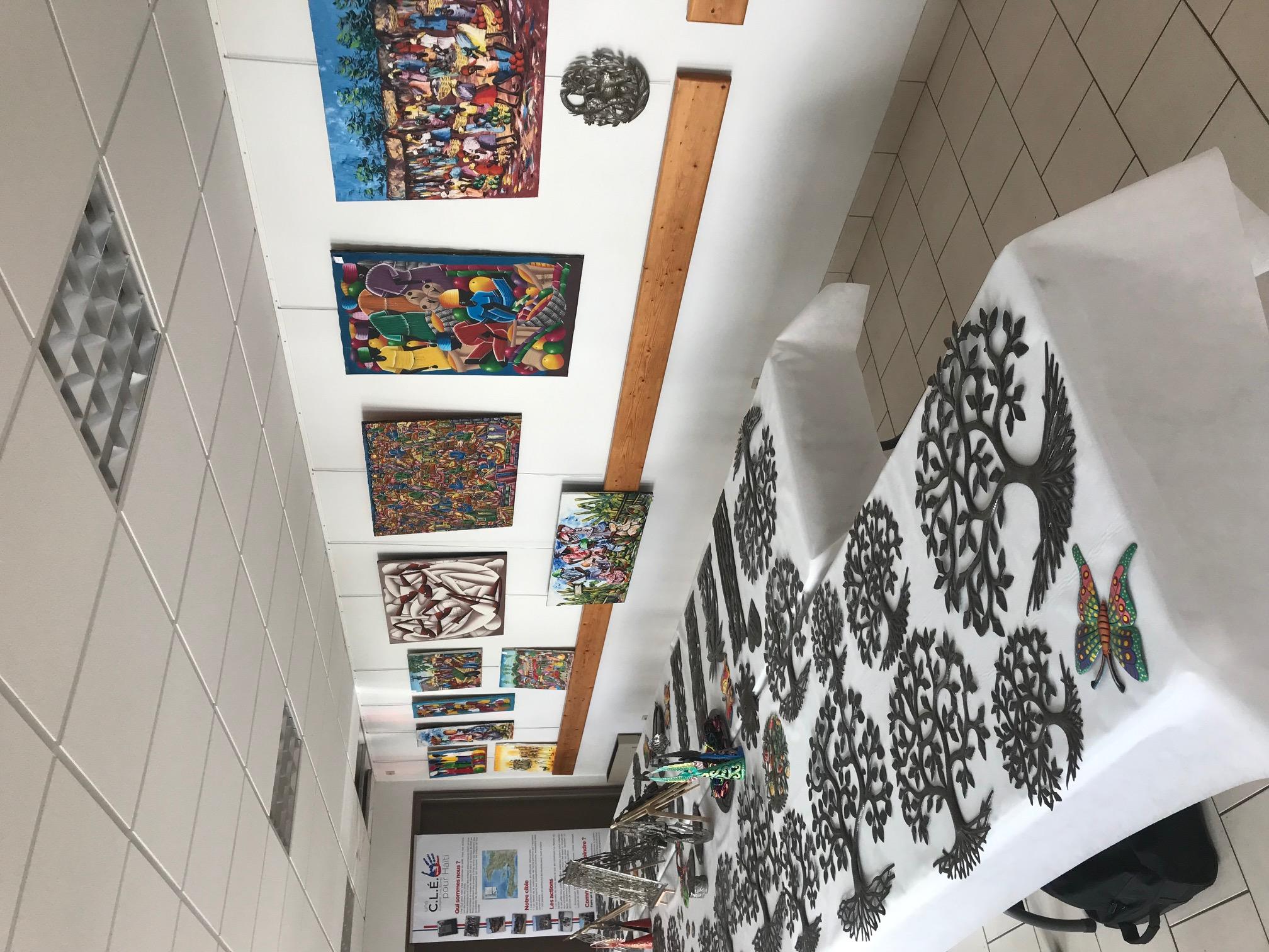 Exposition d'art Haïtien au Centre Joubi