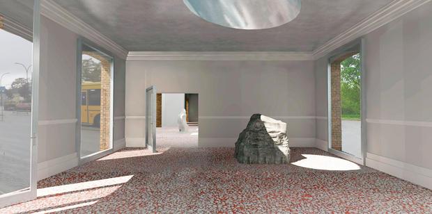 Art space, interior   Rendering by Peter Møller Rasmussen.