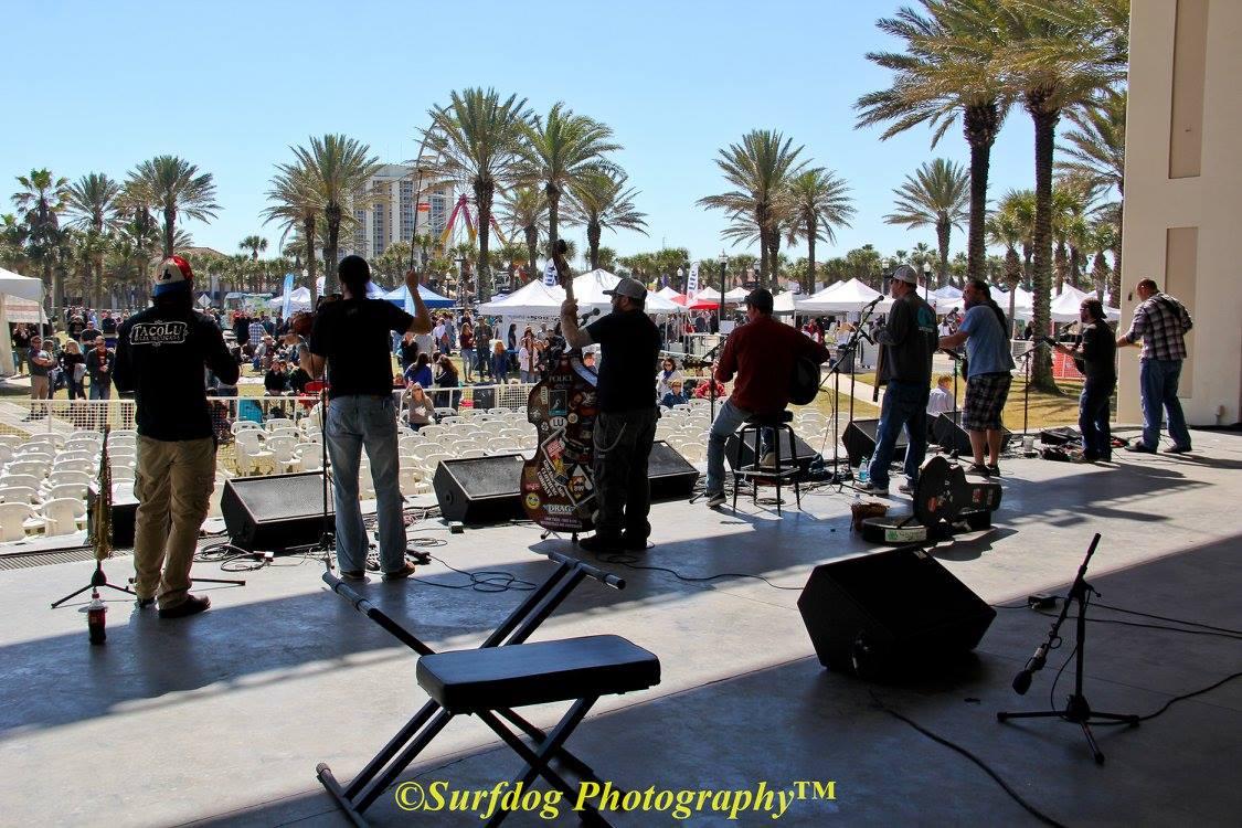 Back stage at the Seawalk Pavillion