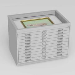 Flat file cabinet model 414
