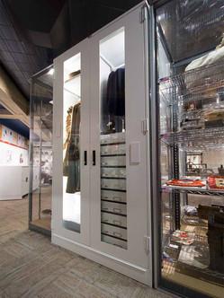 illuminated museum cabinet ohio history