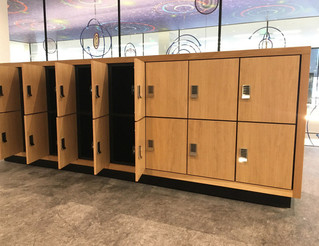 DAY USE LOCKERS IN A PUBLIC LIBRARY
