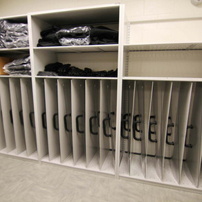 SHIELD & RIOT GEAR STORAGE FOR JAIL AND POLICE