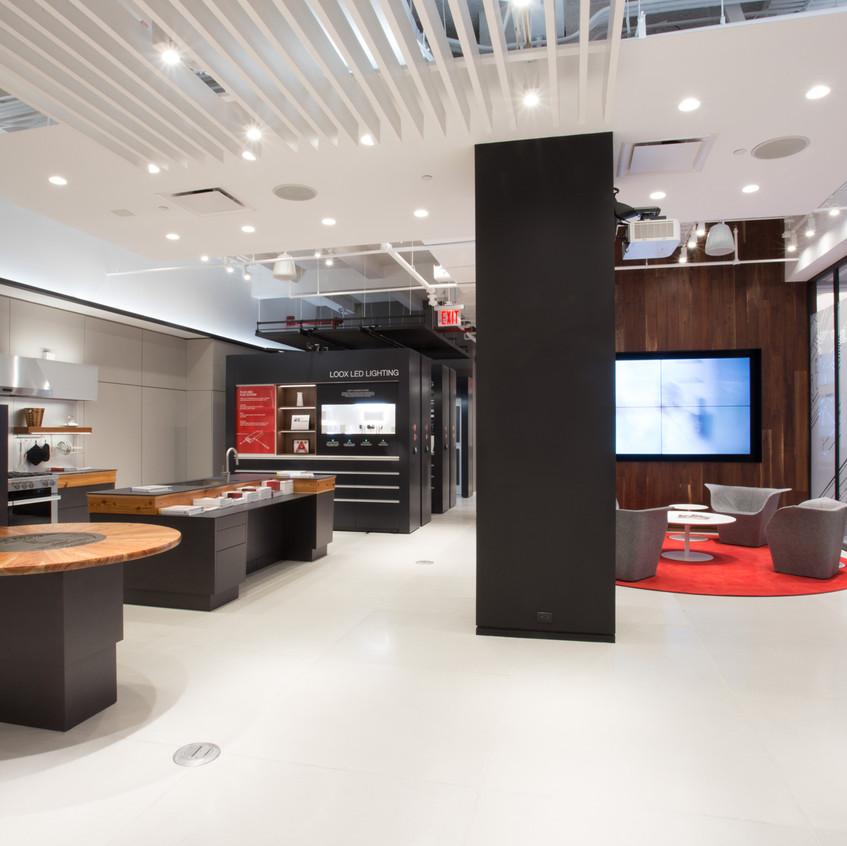 Showroom display in Manhattan New York