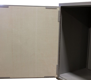 Ballistic panels for evidence lockers