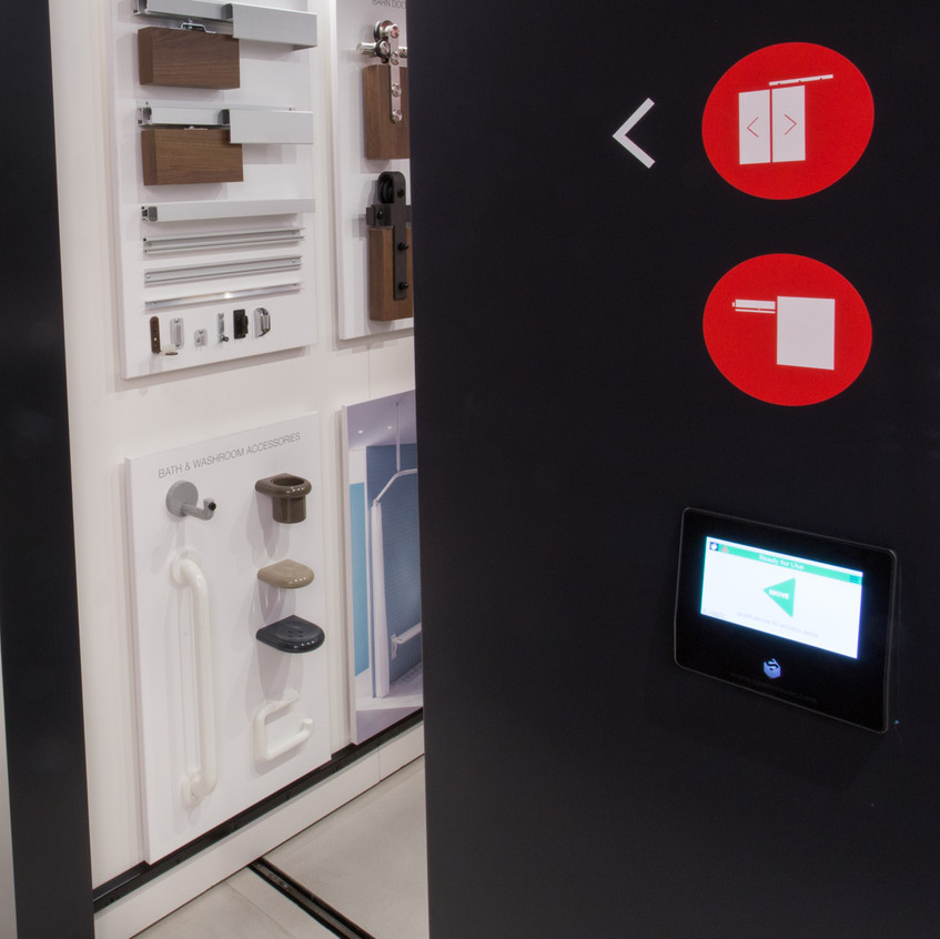 Touch technology control provides intuitive carriage operation