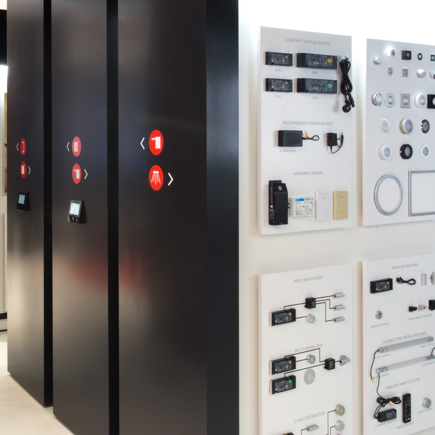 Showroom displays more products in less space