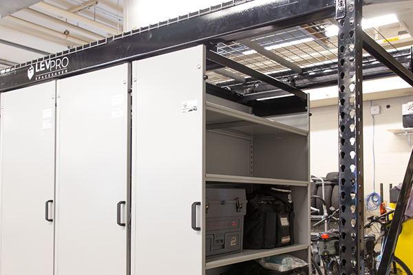 Wire decking for overhead storage