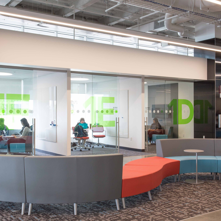 Riddell library and learning centre provides collaborative work areas for students