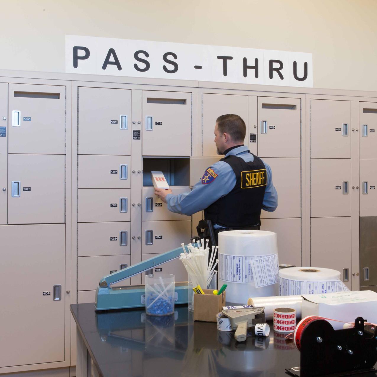 Pass through evidence lockers